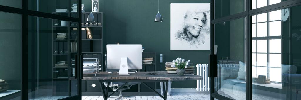 i colori nell'interior design - verde