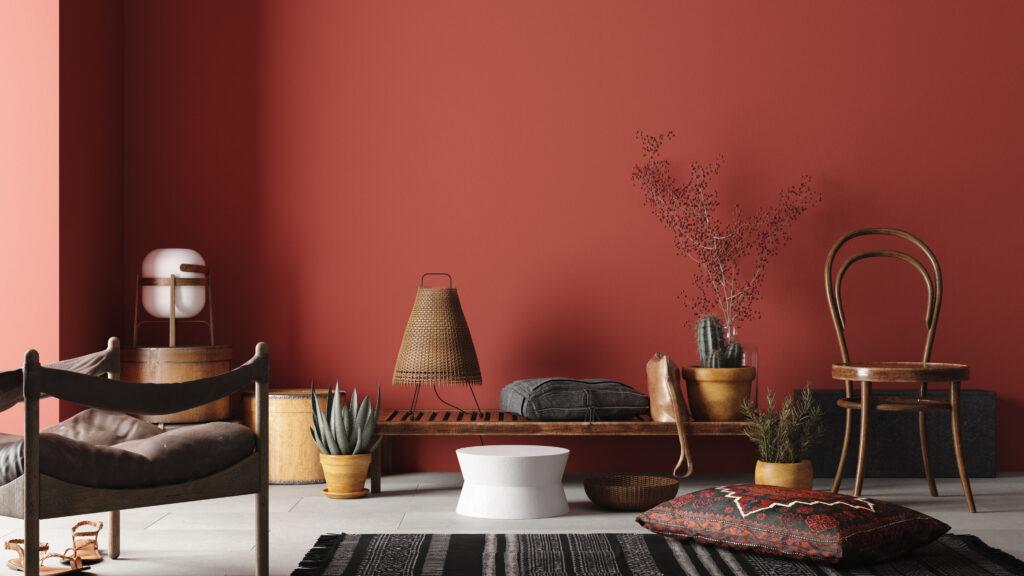 i colori nell'interior design - rosso
