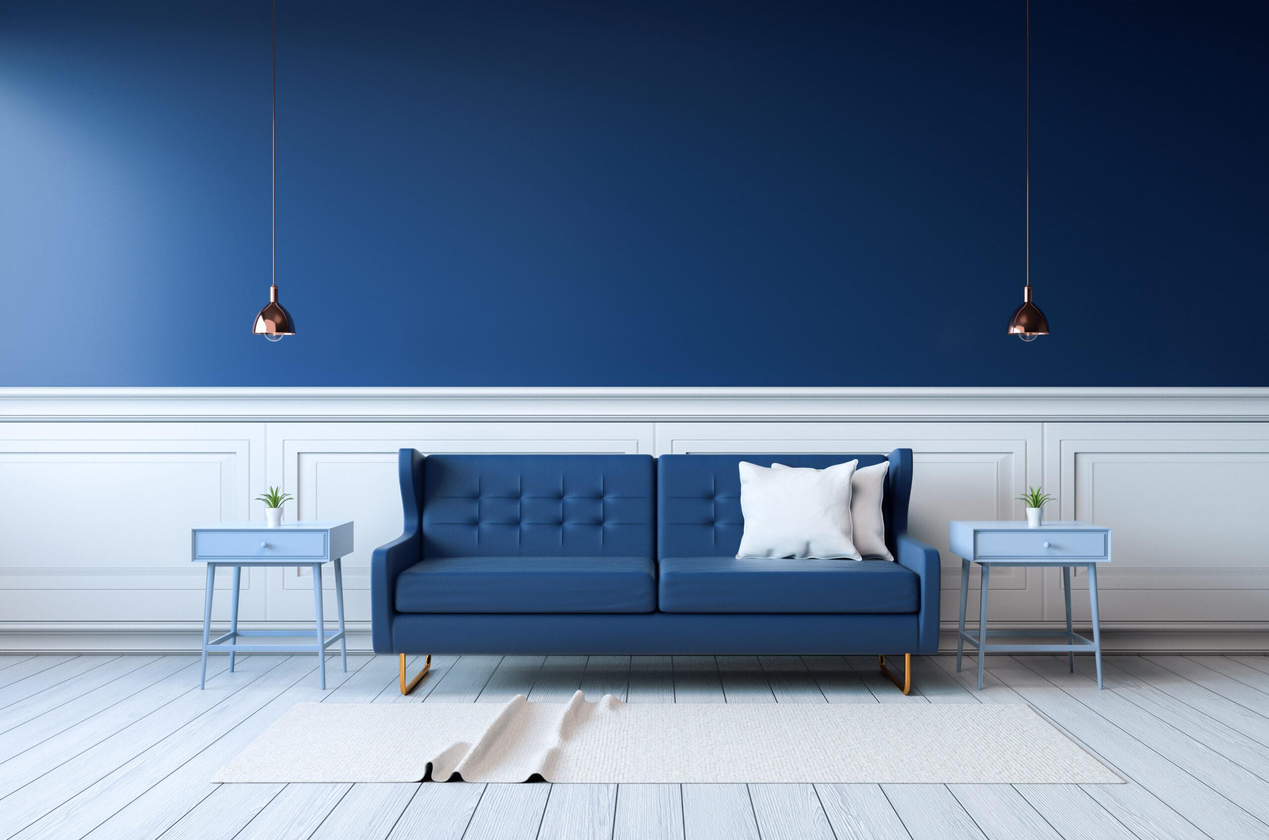 i colori nell'interior design blu